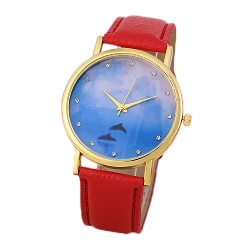 Pu leather Strap Quartz Movement Geneva Brand Cheap Watches For Women Hot Sale Lady's Wristwatches