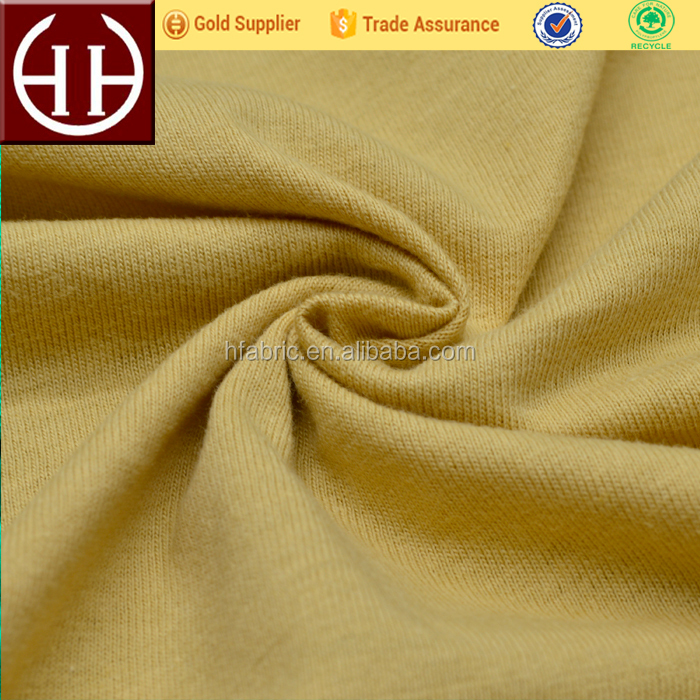 Hotsale and soft 30s 220g coffee cotton plain knitted fabric for sweater, shirt