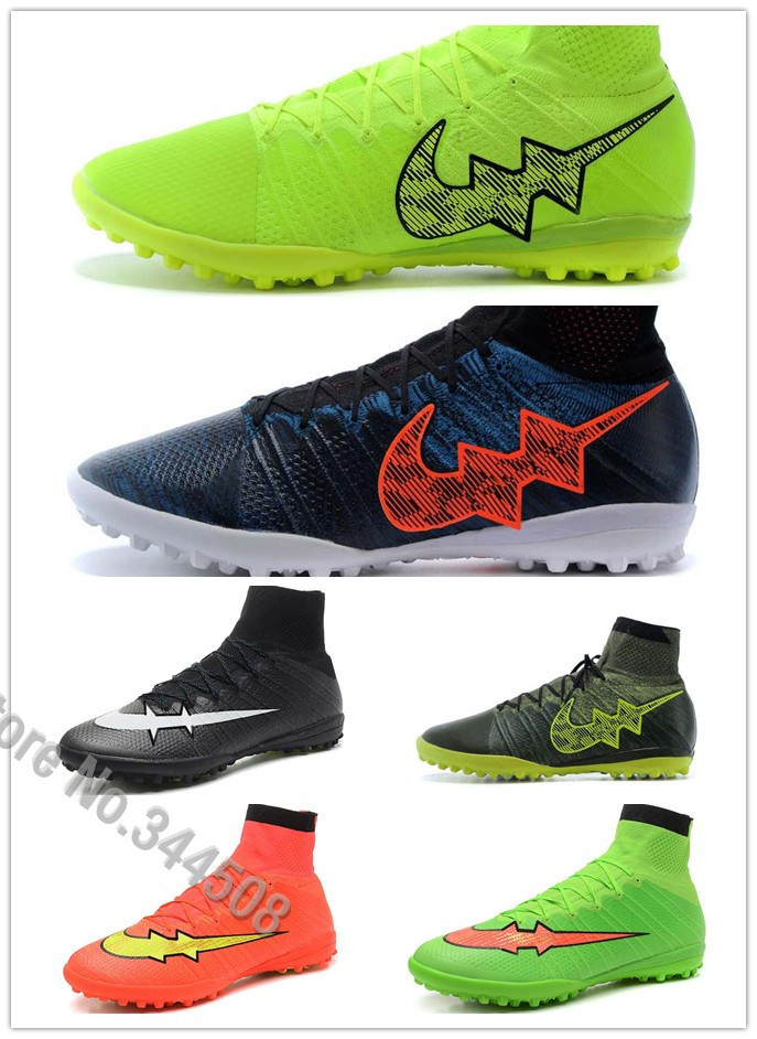 Get Quotations · 2015 new men high ankle indoor football boots Elastico  Superfly TF soccer shoes red black e200a90bd
