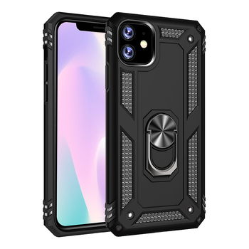 Wholesale TPU PC phone case back cover for iPhone (2019)6.1,shockproof with magnetic phone holder phone case