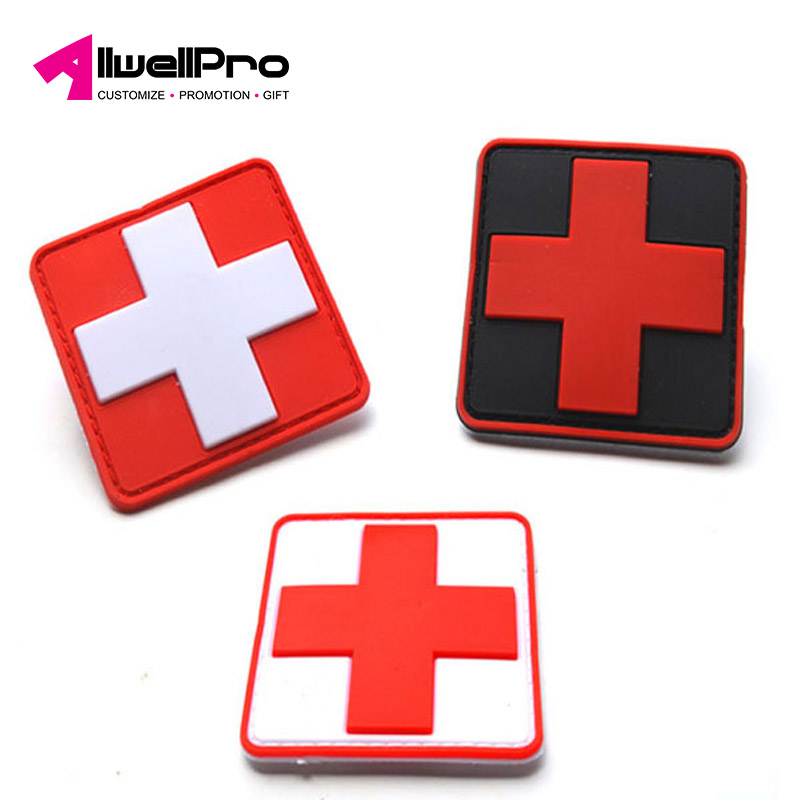 Lovely Hot Sale 3d Pvc Rubber Medic Paramedic Tactical Army Morale Badge Patches Red Cross Flag Of Switzerland Swiss Cross Patch Rock & Pop