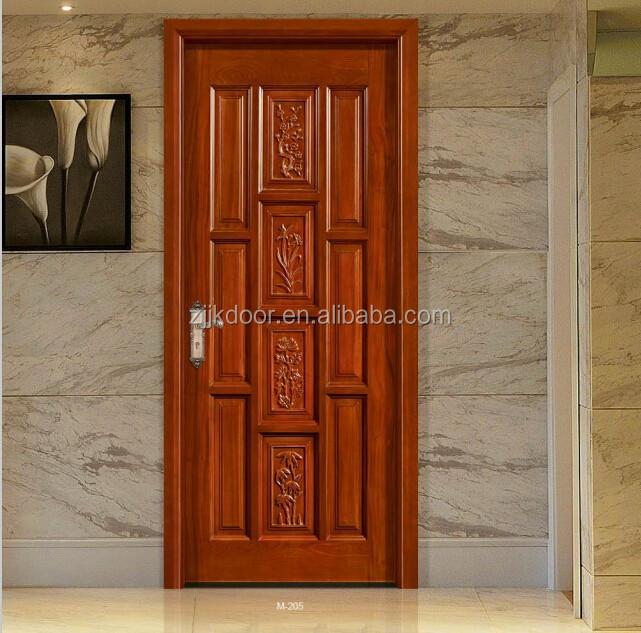 Teck en bois portes principales conception utilis portes for Porte entree appartement prix