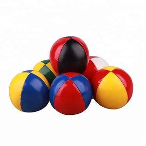 Color PU leather contact bulk juggling ball filled with plastic beans custom design
