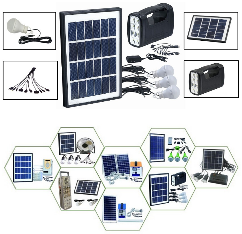 Mini Home Solar Power System Solar Home Lighting Kit With Ac And Dc ...