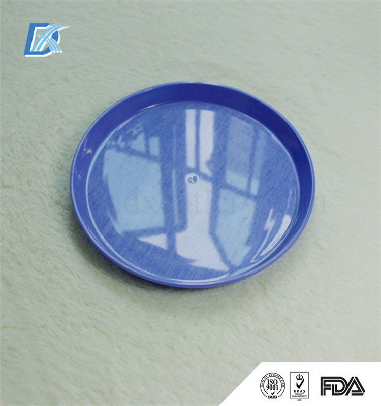 Non-Slip Round Airline Plastic Custom Printed Custom Size Hardware Serving Food Tray