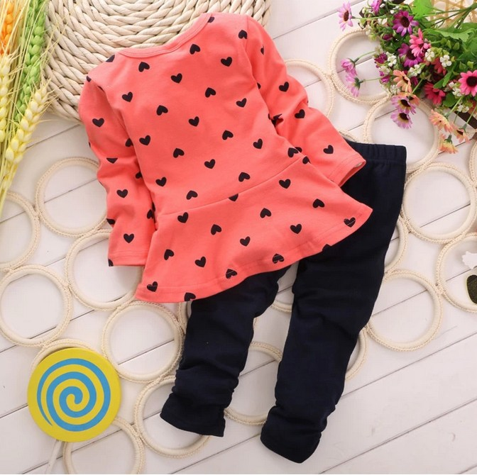 d327fbb44 2019 Wholesale Spring Autumn Winter Girl Popular Top+Pant Set ...