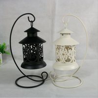 Classical Style Iron Hollow Candlestick holder for home lanterns wedding decoration