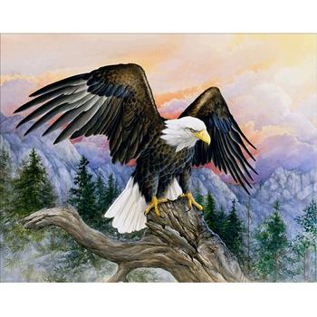 Penggunaan Dekorasi Rumah Terbang Elang Landscape Lukisan Abstrak