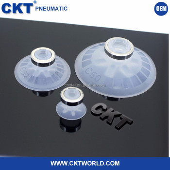China Wholesale Pneumatic Sucker Suction Cups Small Clear Vacuum Pad