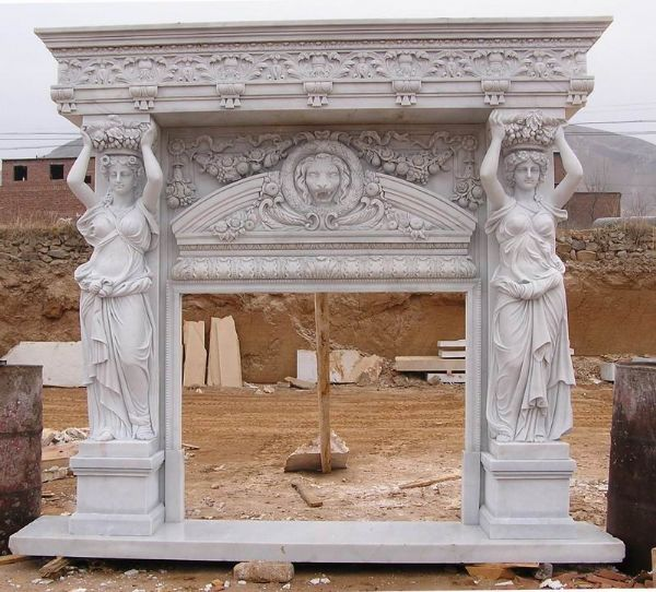 Hot selling marble fireplace hearths
