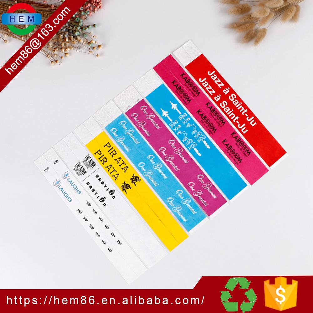Customized Paper Wristbands No Minimum Custom Writing At 10