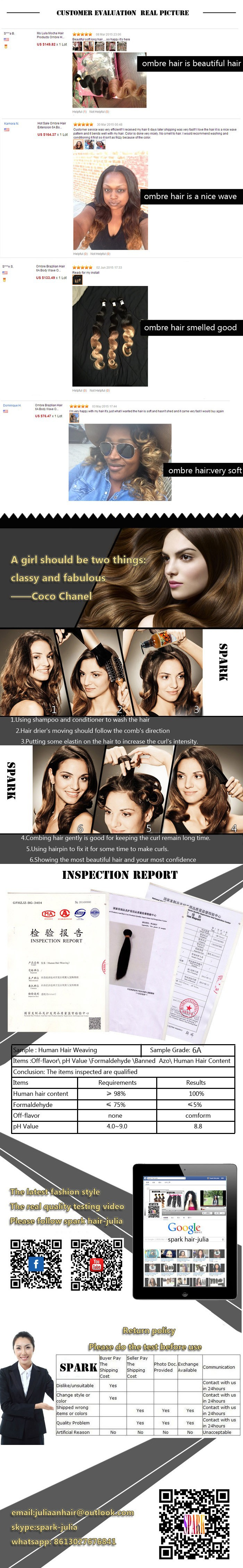 Ombre Brazilian Hair 6a Straight Ombre Hair Extension Two