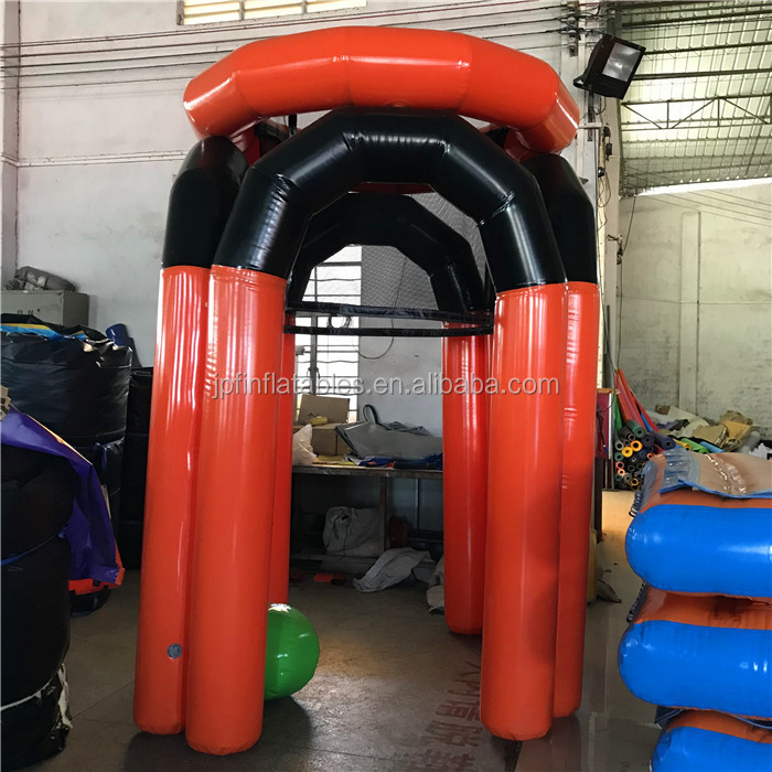 2019 air sealed standard size PVC tarpaulin made inflatable basketball hoop game for sale