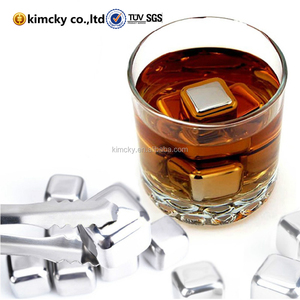 custom non melting ice cubes/Reusable Stainless Steel Whiskey Stones 8pcs Set
