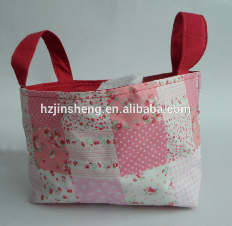 custom mini cute pink canvas tote bag for wholesale