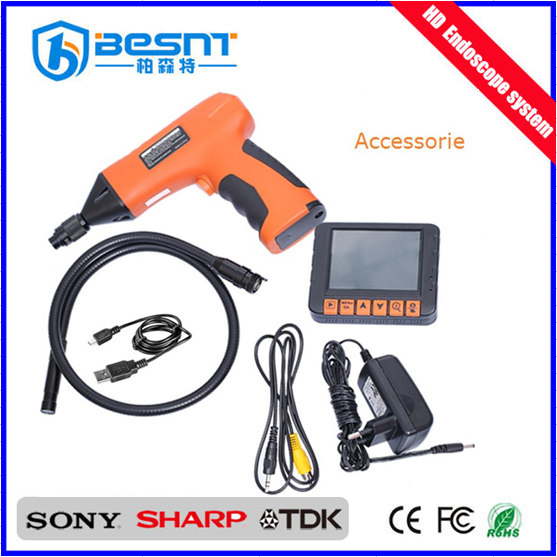 2016 new products 3.5inch LCD 8mm Waterproof Drain cleaning plumber pipe Borescope endoscope inspection camera BS-GD08