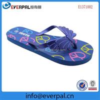 Blue Butterfly Cute Childrens Flip Flops