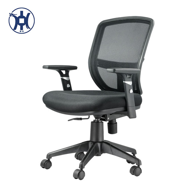 High quality swivel fashional adjustable office full mesh chair with nylon base