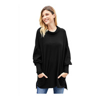 2018 New Arrival Pocketed Tunic Woman Sweater