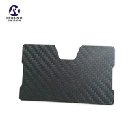 Carbon Fiber Minimalist Slim Wallet, RFID Blocking Credit Card Holder, Card Holder Front Pocket Wallet