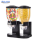 Unique Countertop Dual plastic bulk Dry food cereal candy dispenser