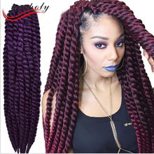 cheap 100 high temperature synthetic havana hair ombre color havana mambo twist crochet braids