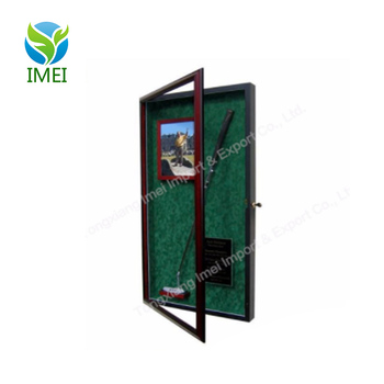 Cheap price and good quality customized golf ball wood display case