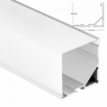 Link able 90 degree LED Aluminum Profile With 40mm width, square or round cover linear lights aluminum channel