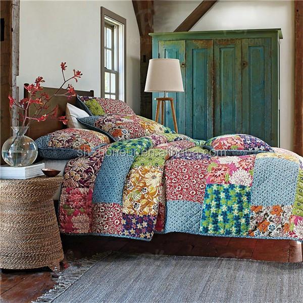 Hecho a mano de lujo patchwork estilo indio vintage - Fundas nordicas vintage ...