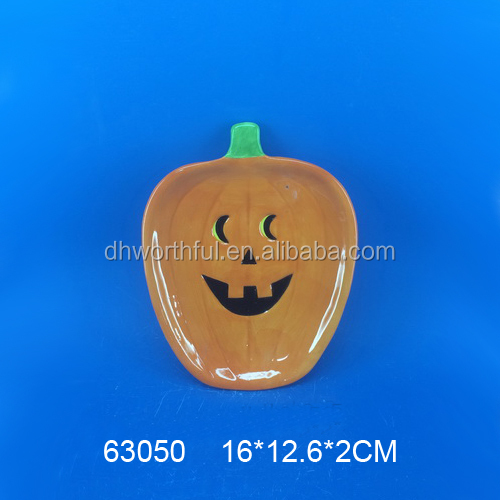 High Quality Ceramic Halloween Dinner Plate/Dish Plate,China Cheap Ceramic Plate Factory