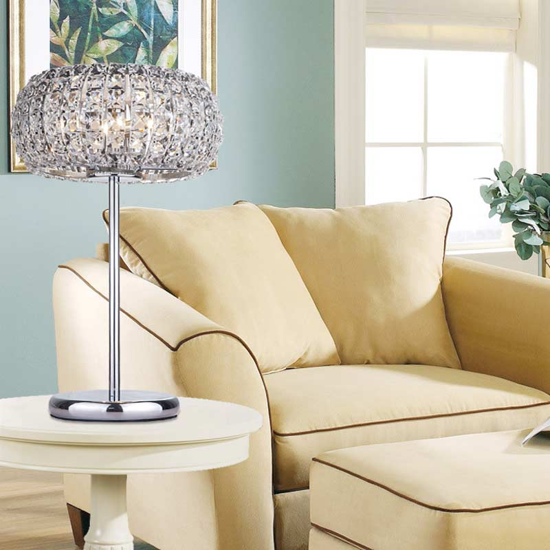 Living Room Lamp Shades: Modern Crystal Table Lamps For Living Room Bedroom Iron