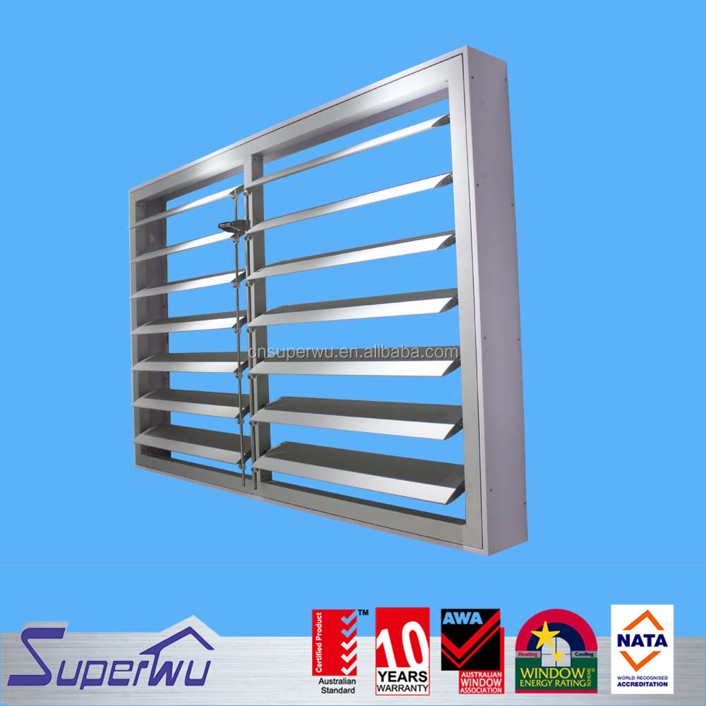 Aluminium electric shutter windows used exterior doors for sale