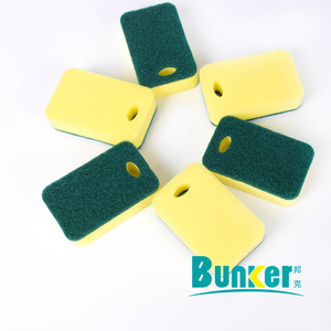 green scouring pads with foam