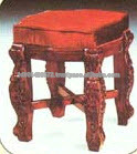 solid mahogany Antique Reproduction Stool Indoor furniture .