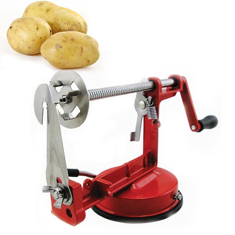 Amazon Hot Sale Potato slicer Stainless Steel Potato Manual <strong>Cutter</strong> <strong>Spiral</strong> Chips Twisted Potato Apple Slicer French Fry <strong>Cutter</strong>