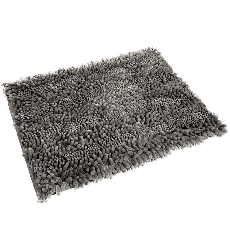 high quality microfiber loop pile chenille bath rug