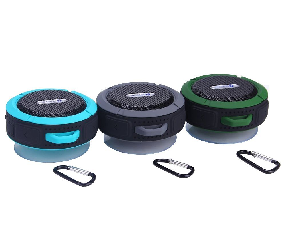 Aws1158 with carabiner mini swimming pool shower wireless - Waterproof speakers for swimming pools ...
