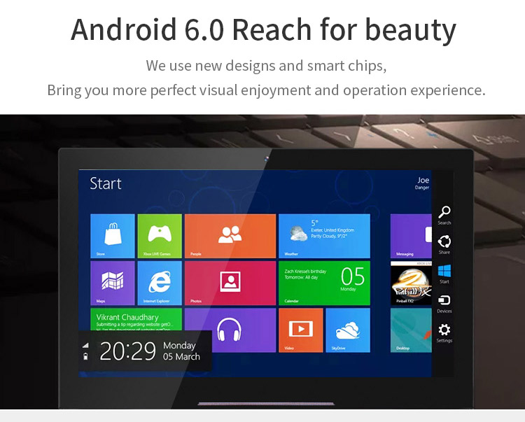 Kelas Industri 13 Inch Full HD 1920X1080 Home Automation Tablet