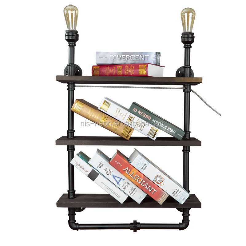 steampunk bookshelf wall lamp water pipe wall lamp industrial pipe