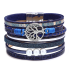 Tree Of Life Jewelry Bracelets for Women Multi-layer Leather Pearl Bracelet Alloy Accessories Magnetic Bangle Bracelet