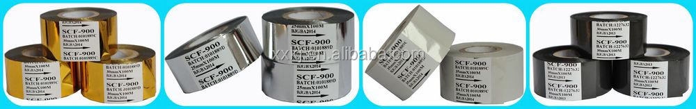 Fineray FC3 hot coding foil use on date coder, hot stamp ribbon for food packag date stamp