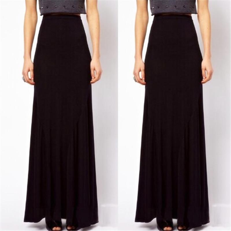 9d34ae4d77 Long Black Cotton Skirt - Redskirtz