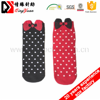 Wholesale Oem Cartoon Cotton Young Teen Girl Tube Socks