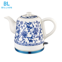 1.0L OEM Free High Quality Cordless Ceramic Electric Kettle with 304 Stainless Steel Manufacture Good Price