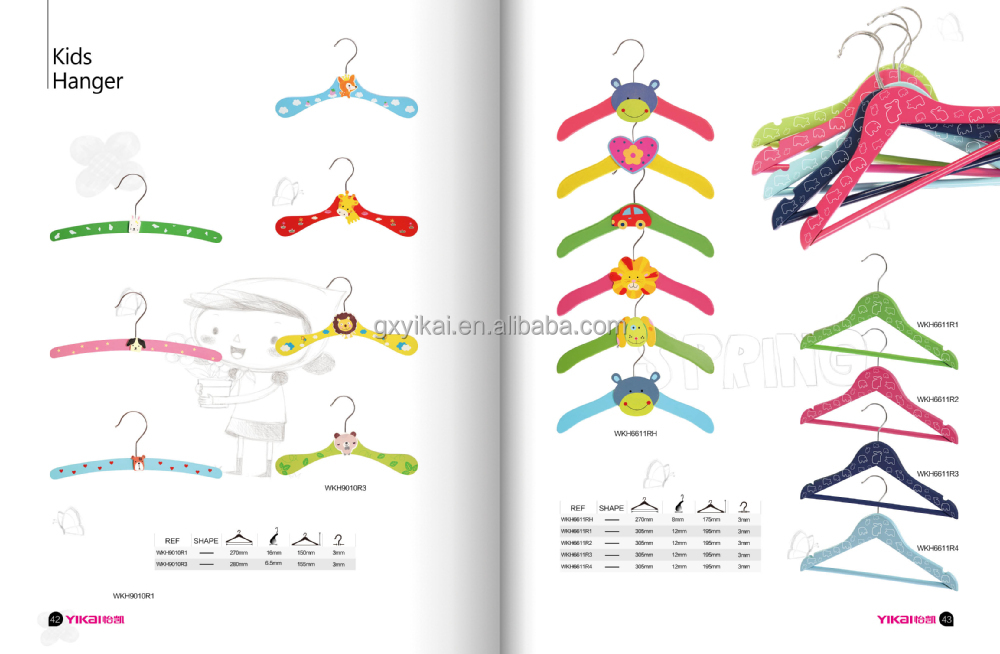 YIKAI baby wooden hangers with clips