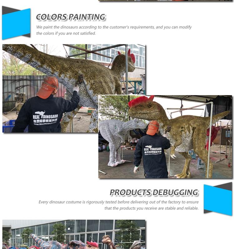 المشي الديناصور animatrics العرف ازياء