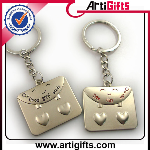 Red white blue ribbon keyrings with chain manufacturer