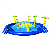 Games Used Commercial Aqua Design Waterpark Floating Giant Equipment Price Portable Amusement Inflatable Water Park For Sale