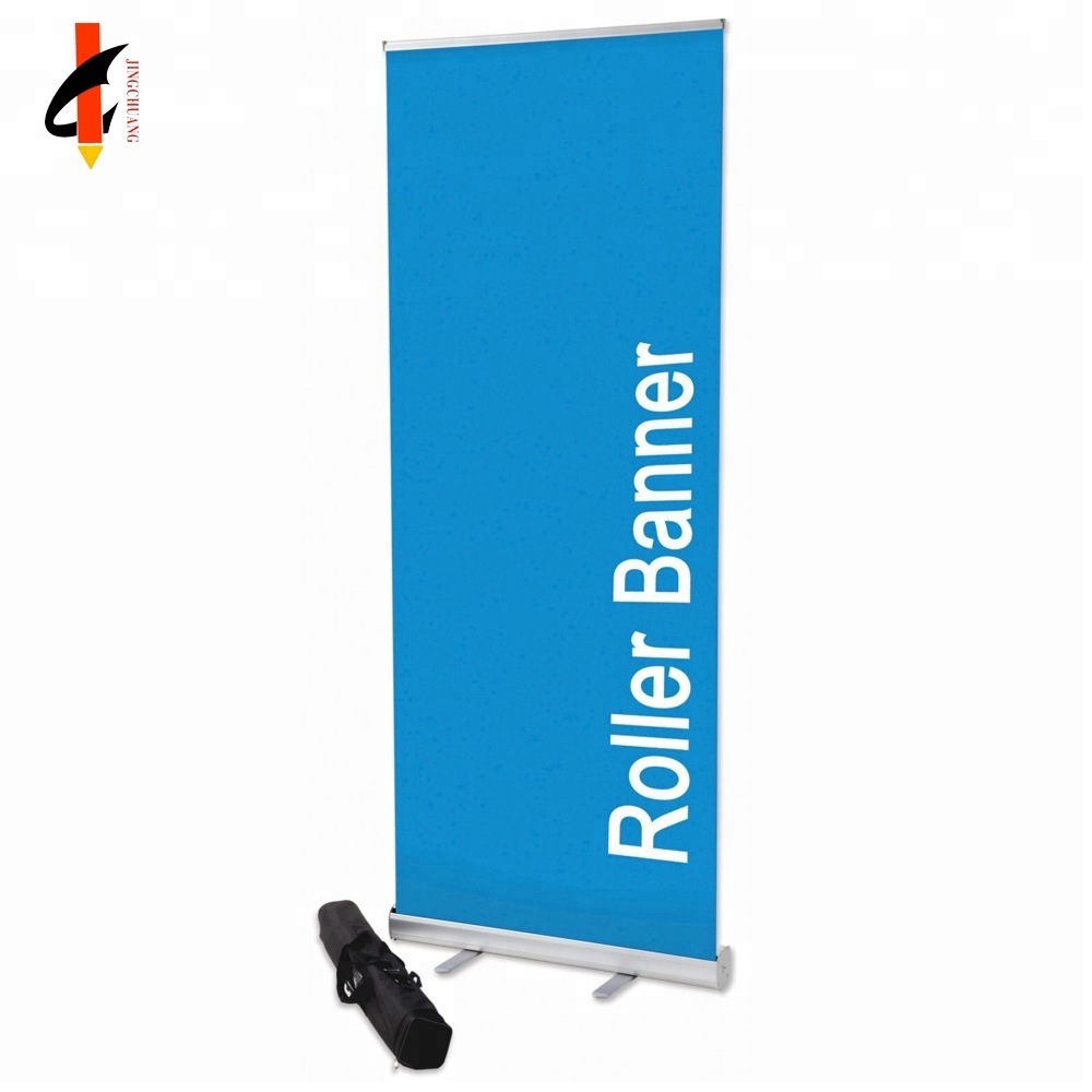 Retractable Roll Up Banner Stand Size Promotion Sign Holder for Trade Show, Comes with A Carrying Bag, Aluminum Structure Base