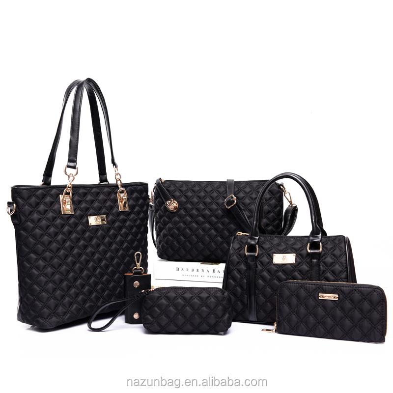 Alibaba al por mayor conjunto nylon bolsos 6 en 1 Unidades las señoras bolso  diseñador bolso ccc26d601e3a